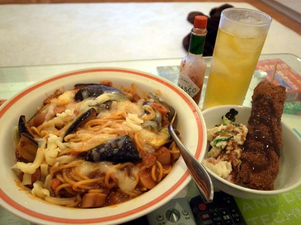 モッツァレラチーズと茄子のスパゲッティ